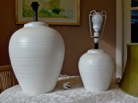 Two Spanish ceramic table lamp bases.