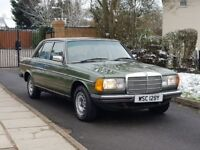 MERCEDES BENZ W123 240d,VERY GOOD COND,CLASSIC CAR,PERFECT ENGINE AND GEARBOX,MOT DECEMBER,SERV/HIST