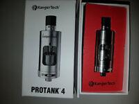 For Sale OR Trade: 4 Pcs vape/vaping set: Kanger Protank 4 + Smok TFV4 + 2 Coil Packs