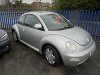 VW BEETLE 1948cc 3 DOOR HATCH 2000-W REG, SILVER, LOOK ONLY 2 FORMER KEEPERS, PART SERVICE HISTORY