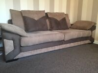 4 seater scatter back sofa & 3 seater flat back sofa