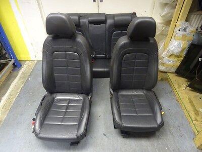 *SEAT EXEO 2009-2014 COMPLETE BLACK LEATHER INTERIOR SEATS DOOR CARD