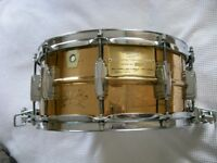 "Ludwig 75th anniversary seamless bronze Supersensitive snare drum 14 x 6 1/2"" - 1984 - #23 - Rare"