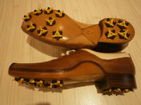 Brand new in box Italian hand made leather golf shoes size 10