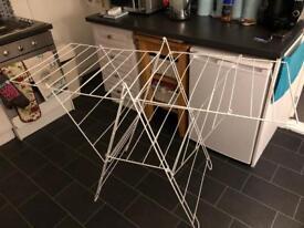 A frame folding clothes horse