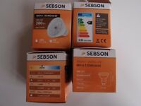4x LED 5W, GU5.3 MR16, warm white (3000K), 380lm, SEBSON®
