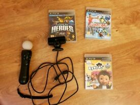 Ps3 ps move controller camera games