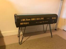 Industrial Vintage Retro military Bespoke coffee table