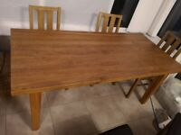 Solid Oak Dining Table (NO chairs)