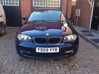 BMW 120d 177bhp with 45mpg. Full leather, heated front seats and parking sensors f&r