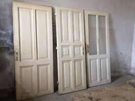 3x Antique Doors Wooden Vintage Bed Board Wall decor re purpose