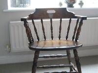 Vintage captain's chair.