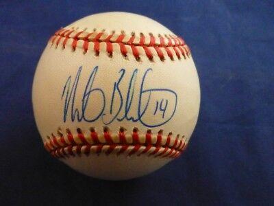 Mike Bordick Signed American League Ball with Case & COA