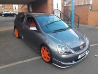 Honda Civic Type R Ep3 k20 private plate COSMIC GREY HPI CLEAR