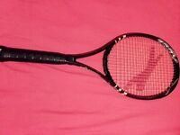 black and white slazenger tennis racket