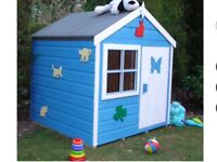Brand new unassembled wooden playhouse
