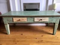 *REDUCED FURTHER FOR QUICK SALE* Shabby chic distressed coffee table / tv unit