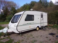 1999 Abbey Vougue GTS 215 2 berth with a Isabella AMB 900F awning (2014)