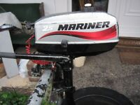 Mariner 2.5HP Outboard Engine 2-Stroke (year 2006). Full Service. Runs Lovely.