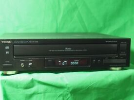 TEAC -PD D2620 , 5 DISC CD/ MP3 PLAYER WITH REMOTE CONTROL