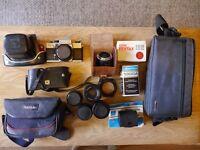 Vintage Praktica SLR Film Camera Bundle (with 6 Lenses)