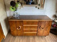 Vintage sideboard or drinks cabinet. Lovely colour & pattern. Lots of storage.