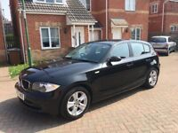 BMW 1 SERIES 116i BLACK, MILEAGE 52000, FULL SERVICE HISTORY, HPI CLEAR