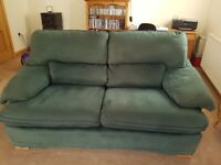 2 and 3 Seater Dark Green Settees