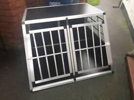 Foxhunter aluminium dog cage