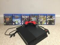 Play station (PS4) 500gb console, x1 controller and x6 games