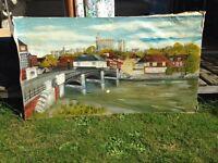 1975 canvas painting Windsor Castle