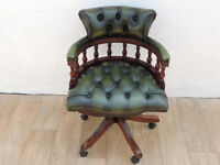 Leather dark chair captains (Delivery)