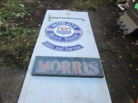 Vintage Morris Dealers Sign and Neon Sign