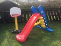 Little Tikes Toys - Giant Slide + basketball basket