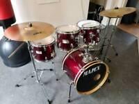 Mapex Jazz / Cocktail Drum Kit inc Hardware & Cymbals