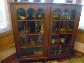 BEAUTIFUL Double Fronted glass panelled two door cabinet circa 1930/40's