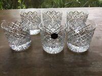 6 x crystal glasses