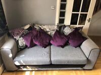 SCS DANNI 3 SEATER SOFA AND GIAN CUDDLE SEAT TWISTER