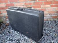Delsey Black Hard Plastic Suitcase with 2 keys