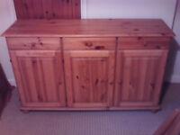 A Pine Three Drawer, Three Door Sideboadr/Cupboard