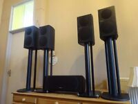 Pioneer SP-BS21 80-Watts RMS 2-Way Speakers And SP-c22 with stands