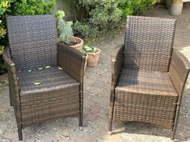 X2 Rattan Chairs - Brown