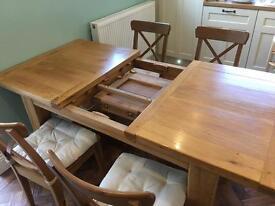 Solid oak extending table 140 - 180 cm