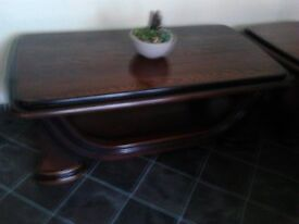 Dark wooden coffee Table 128/67 500h very good condition