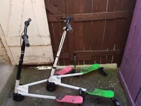 2 wiggle scooters