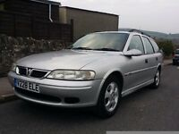 VAUXHALL VECTRA LS, 1999, 1.8, 16V, PETROL, MANUAL, ESTATE, MOT 24 April 2017