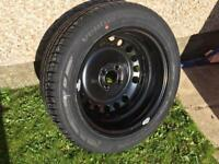 New Car tyre and wheel