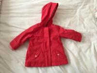 Gorgeous 6/9 Months Baby Girl Marks & Spencer's Raincoat/Jacket In Perfect Condition!!