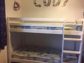 Rustic look bunk beds