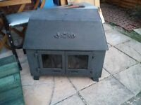 Reduced Old Antique Woodburner with 2 brand new flue pipes-